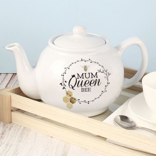 Queen Bee Personalised Tea Pot Gift - Mothers Day, Birthday Gift For Her